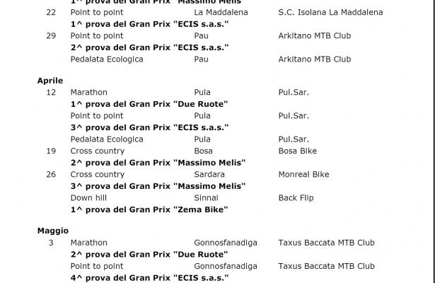 Fci Calendario.Comunicazioni Della Fci Techno Bike A S D